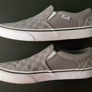 Men's Checkerboard Slip On Vans